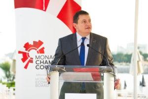 Guillaume Rose du groupe Monaco Economic Board (MEB) présente les différents rôles de son institution dans la Principauté
