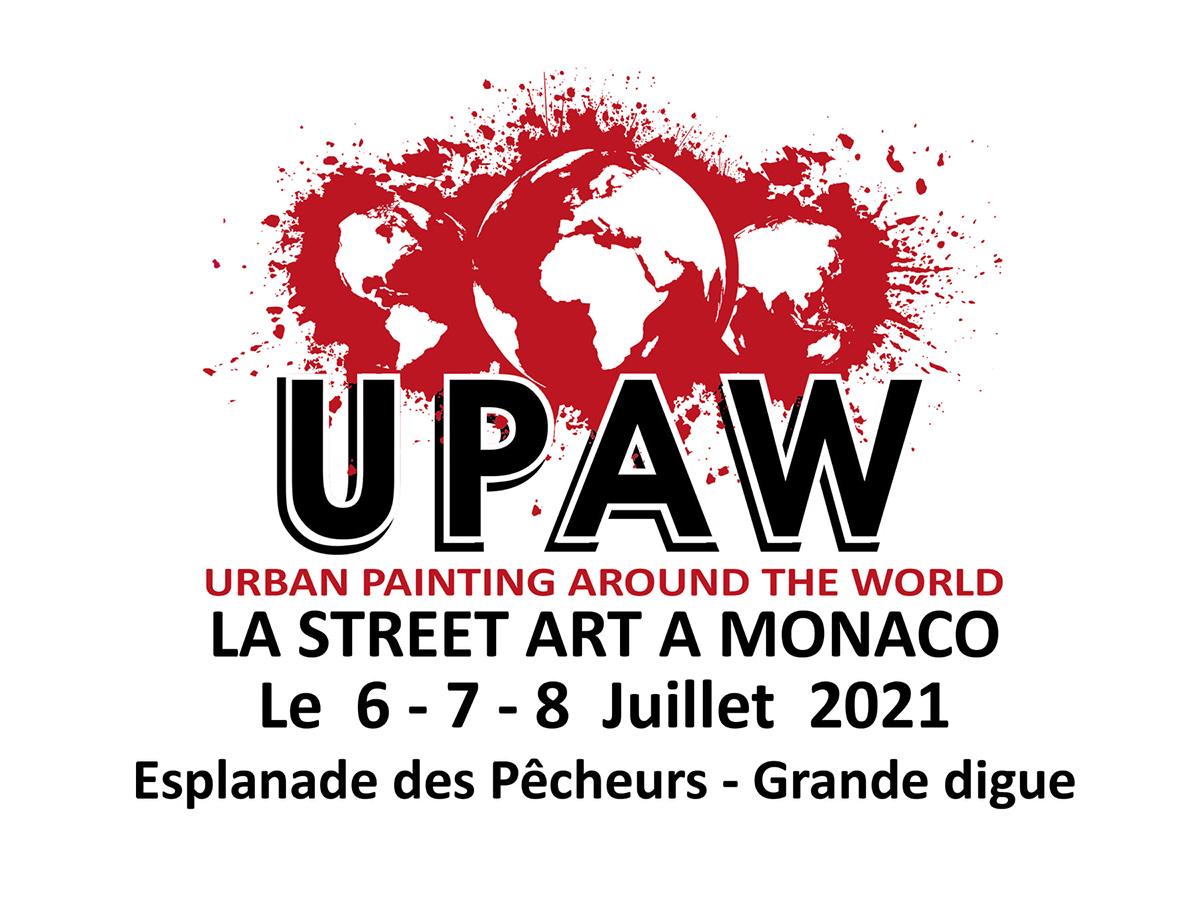 UPAW Affiche de l'événement UPAW du 6 au 8 juillet 2021 à Monaco